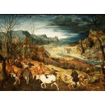 Puzzle  Grafika-Kids-02041 Brueghel Pieter - The Return of the Herd, 1565
