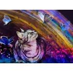 Puzzle  Grafika-Kids-02055 Cat and Butterflies