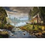 Puzzle  Grafika-Kids-02061 The Fisherman's Cabin