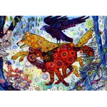 Puzzle  Grafika-Kids-02066 Sally Rich - Wolves in a Blue Wood