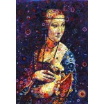 Puzzle  Grafika-Kids-02067 Leonardo da Vinci: Lady with an Ermine, by Sally Rich