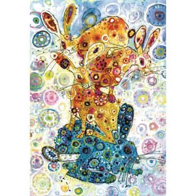 Puzzle Grafika-Kids-02076 Sally Rich - Devon Hare Stack
