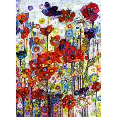 Puzzle Grafika-Kids-02087 Sally Rich - Poppies