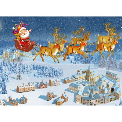 Puzzle Grafika-Kids-02101 François Ruyer - Santa Claus
