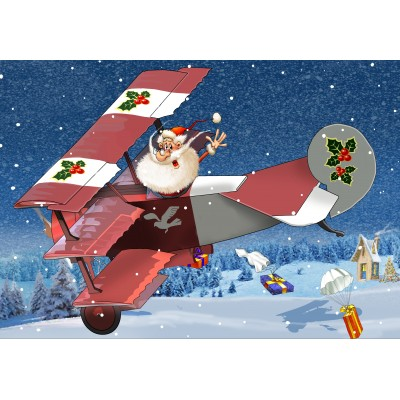 Puzzle Grafika-Kids-02104 François Ruyer - Santa Claus