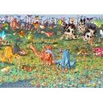 Puzzle   Magnetic Pieces - François Ruyer - Dinosaurs