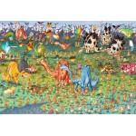 Puzzle   XXL Pieces - François Ruyer - Dinosaurs