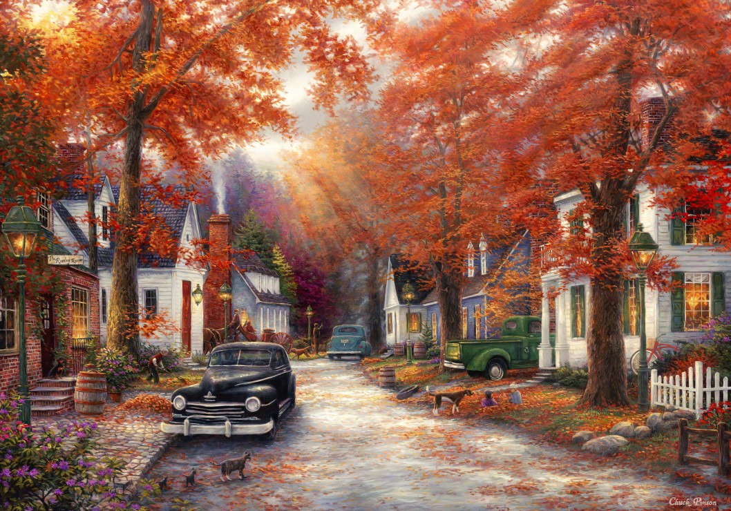 Chuck Pinson - A Moment on Memory Lane 1000 piece jigsaw puzzle