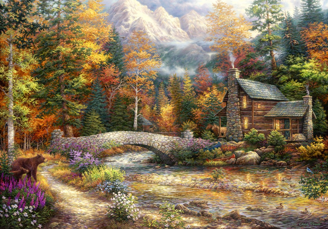 Chuck Pinson - Call of the Wild 1000 piece jigsaw puzzle