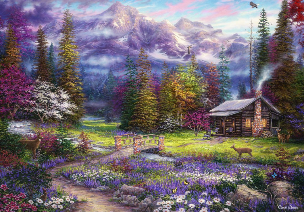 Chuck Pinson - Inspiration of Spring Meadows 1000 piece jigsaw puzzle