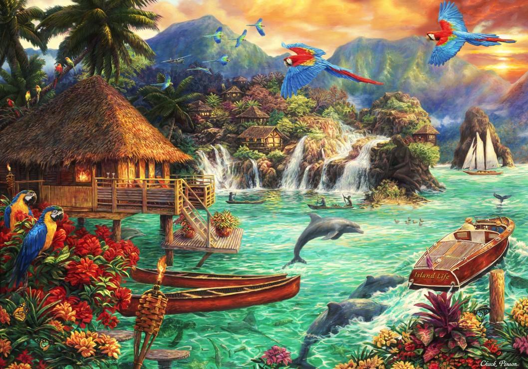 Chuck Pinson - Island Life 1000 piece jigsaw puzzle