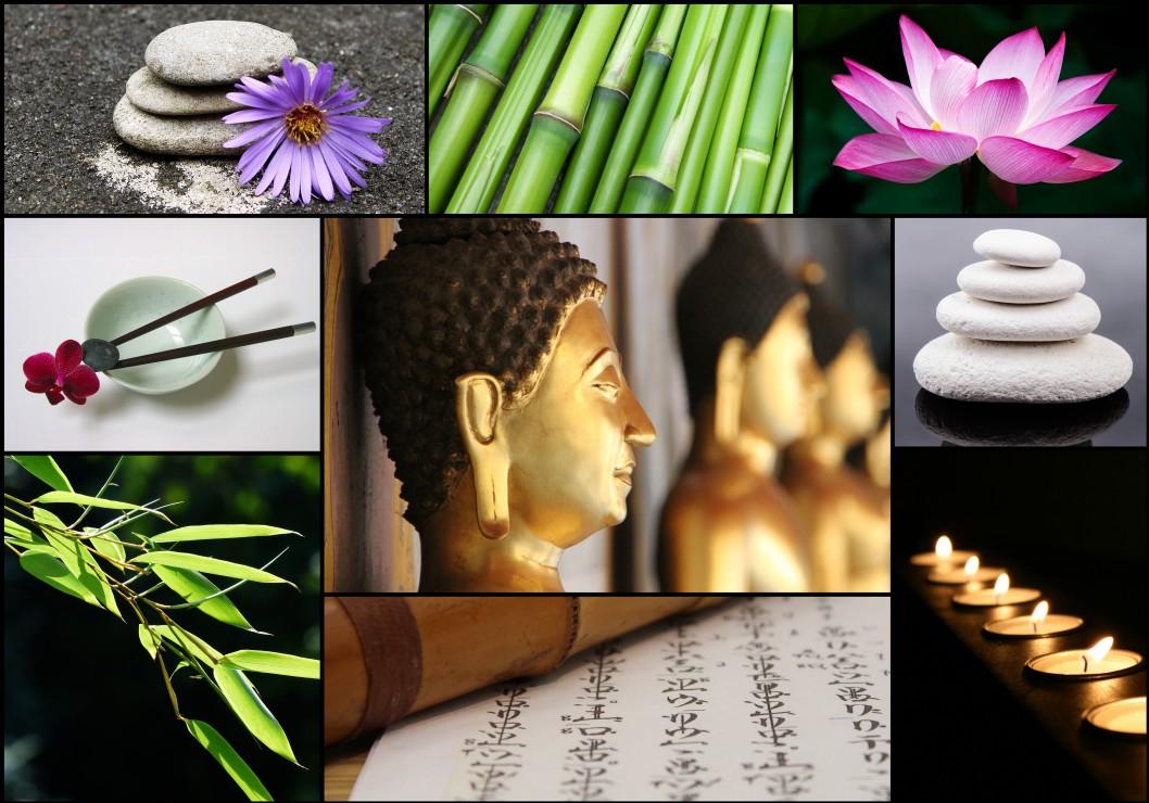 Puzzle Collage Zen Atmosphere Grafika 01219 1000 Pieces
