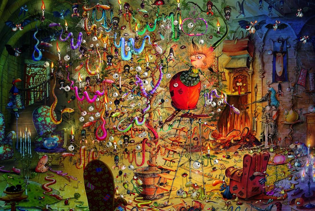 François Ruyer - Witch 2000 piece jigsaw puzzle