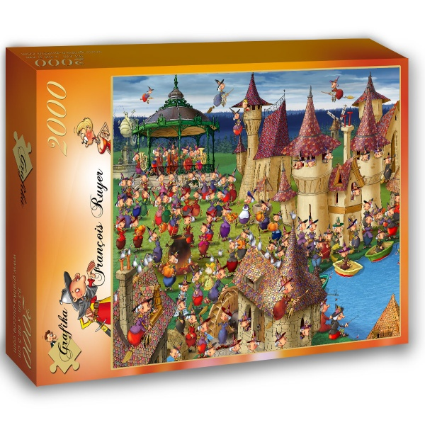 puzzle fran ois ruyer witches grafika 01452 2000 pieces. Black Bedroom Furniture Sets. Home Design Ideas