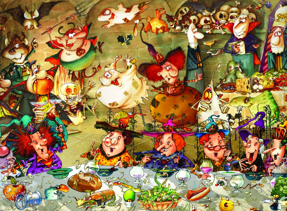 François Ruyer - Witches 2000 piece jigsaw puzzle