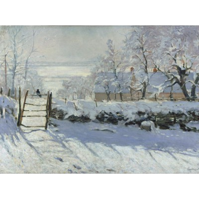 Puzzle Grafika-00038 Claude Monet : The Magpie, 1868-1869