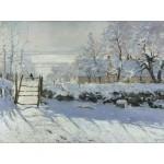 Puzzle  Grafika-00038 Claudio Monet : The Magpie, 1868-1869
