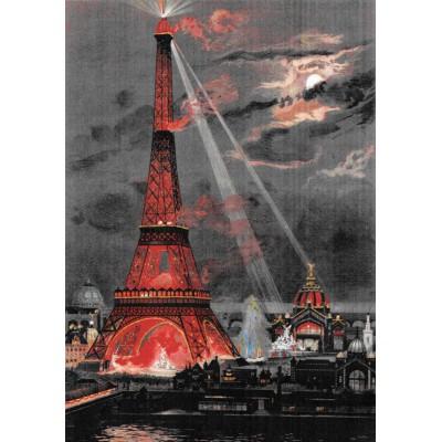 Puzzle Grafika-00075 George Garen: Eiffel Tower