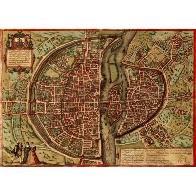 Puzzle Grafika-00165 Map Of Paris, 1572