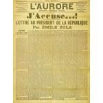 Puzzle  Grafika-00196 Une de l'Aurore du 13 Janvier 1898 - Emile Zola : J'accuse...!