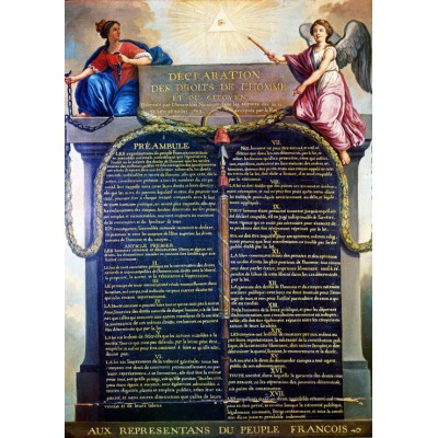 Puzzle Grafika-00201 Jean-Jacques Le Barbier :  the Declaration of the Rights of Man and of the Citizen in 1789