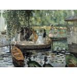 Puzzle  Grafika-00214 Auguste Renoir : La Grenouillère, 1869