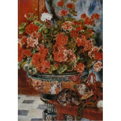 Puzzle Grafika-00275 Auguste Renoir : Fleurs et Chats, 1881