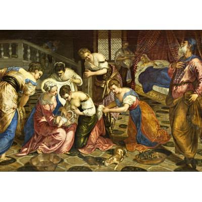 Puzzle Grafika-00277 Tintoretto : The Birth of John the Baptist, 1554