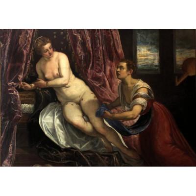 Puzzle Grafika-00287 Tintoretto : Danae, 1570