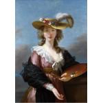 Puzzle  Grafika-00301 Elisabeth Vigée-Lebrun : Autoportrait au Chapeau de Paille, 1782