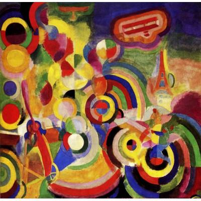 Puzzle Grafika-00312 Robert Delaunay : Hommage à Blériot, 1914