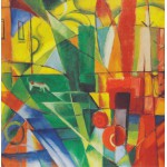 Puzzle  Grafika-00325 Franz Marc - Landscape with House, Dog and Cattle, 1914