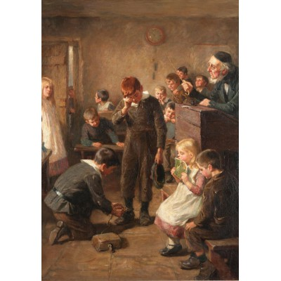 Puzzle Grafika-00336 Ralph Hedley: The Truant's Log, 1899