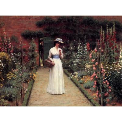 Puzzle Grafika-00370 Edmund Blair Leighton: Lady in a Garden