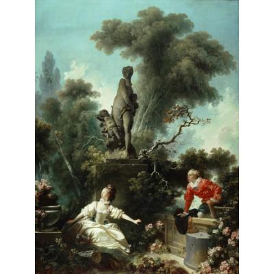 Puzzle Grafika-00392 Jean-Honoré Fragonard: Les Progrès de l'Amour - Le rendez-vous, 1771-1773