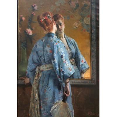 Puzzle Grafika-00481 Alfred Stevens: La Parisienne Japonaise, 1872