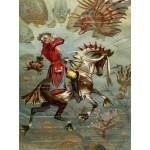 Puzzle  Grafika-00542 Gottfried Franz : Baron Münchhausen underwater, 1896