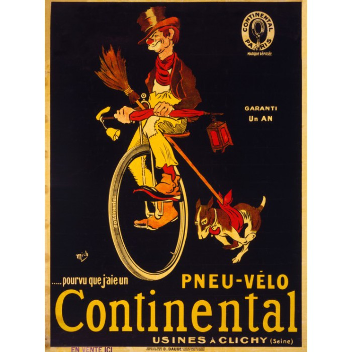 Poster for Continental tires, 1900