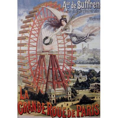 Puzzle Grafika-00622 Affiche Publicitaire pour la Grande Roue de Paris, 1910