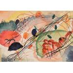 Puzzle  Grafika-00630 Wassily Kandinsky : Aquarell 6, Kunstdrucke auf japanpapier