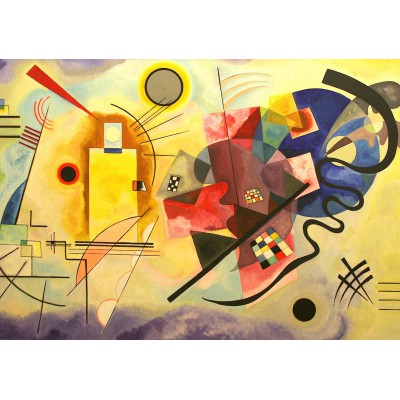 Puzzle Grafika-00631 Vassily Kandinsky : Yellow - Red - Blue, 1925