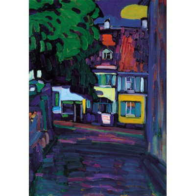 Puzzle Grafika-00637 Wassily Kandinsky : Murnau, Houses in the Obermarkt, 1908