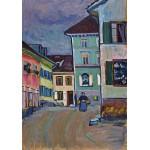 Puzzle  Grafika-00638 Wassily Kandinsky : Murnau, Top of the Johannisstrasse, 1908