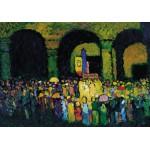 Puzzle  Grafika-00639 Wassily Kandinsky : The Ludwigskirche in Munich, 1908