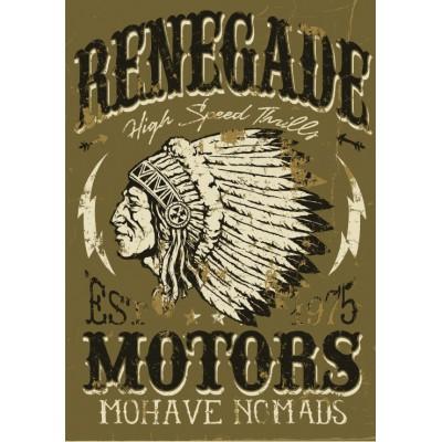 Puzzle Grafika-00647 Vintage Americana Motorcycle Design