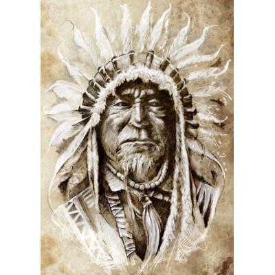 Puzzle Grafika-00650 Indian Chief