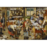 Puzzle  Grafika-00680 Brueghel Pieter the Younger: The Payment of the Tithes, 1617-1622