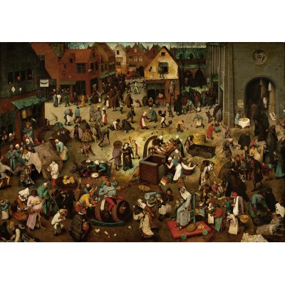 Puzzle Grafika-00694 Brueghel Pieter: The Fight Between Carnival and Lent, 1559