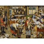 Puzzle  Grafika-00699 Brueghel Pieter the Younger: The Payment of the Tithes, 1617-1622