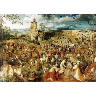 Puzzle Grafika-00701 Brueghel Pieter: The Procession to Calvary, 1564